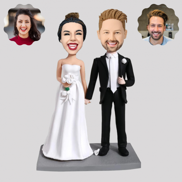 Wedding couple personliazed bobblehead